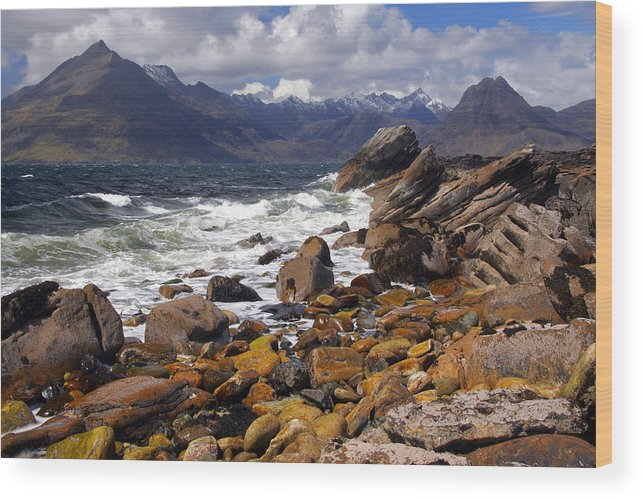 Scotland Wood Print featuring the photograph The Cuillin Mountains From Elgol by John McKinlay