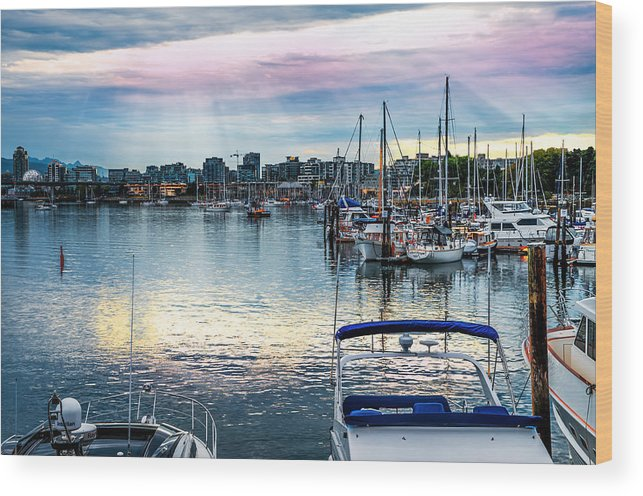 Vancouver Wood Print featuring the photograph The Earth Says Good Morning by Carol Cottrell