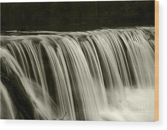 Waterfalls Wood Print featuring the photograph The Falls by Timothy Johnson