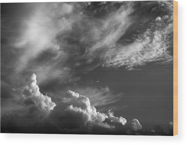Clouds Wood Print featuring the photograph The Fine Art Of Clouds by Jim Darnall