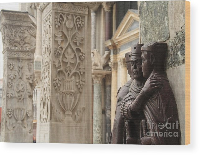 Venice Wood Print featuring the photograph The Four Tetrarchs In Venice by Michael Henderson