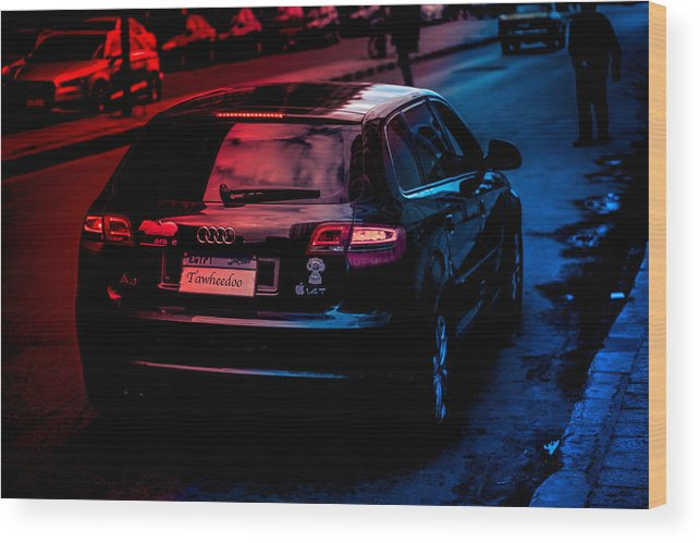 Audi Alexandria Egypt Car Road Landscape Colors Focused Idk Wood Print featuring the photograph The Good And The Bad by Abdelrahman Tawheed