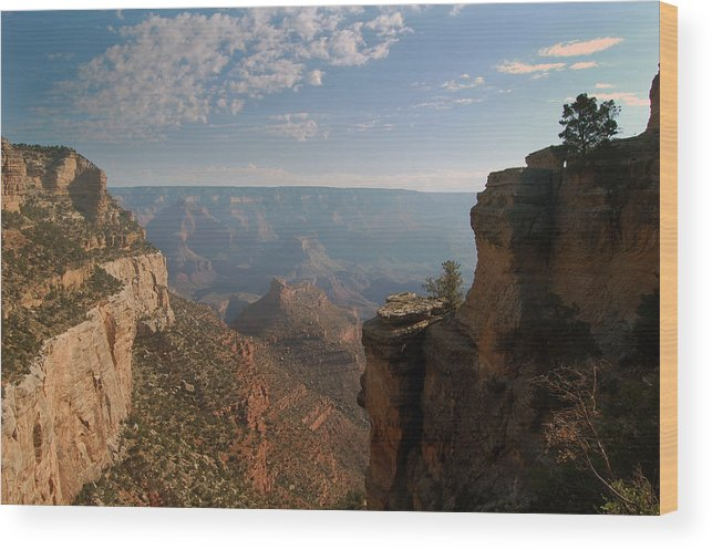 Canyon Wood Print featuring the photograph The Grand Canyon 01 by Greg Straub
