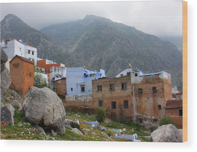 Chefchaouen Wood Print featuring the photograph The Hamptons Of Morocco by Jason Hochman
