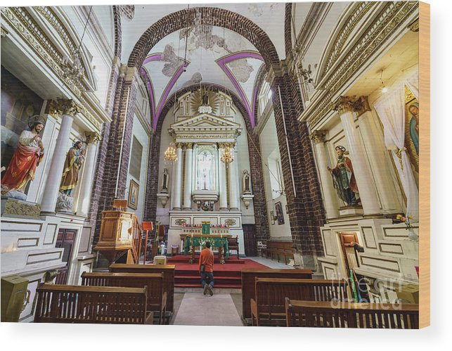 Iglesia De La Salud Wood Print featuring the photograph The Historical Church - Iglesia De La Salud by Chon Kit Leong