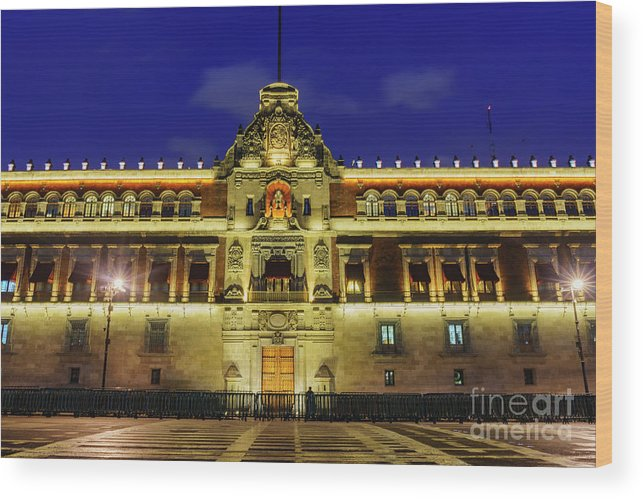 Mexico City Wood Print featuring the photograph The Historical National Palace by Chon Kit Leong