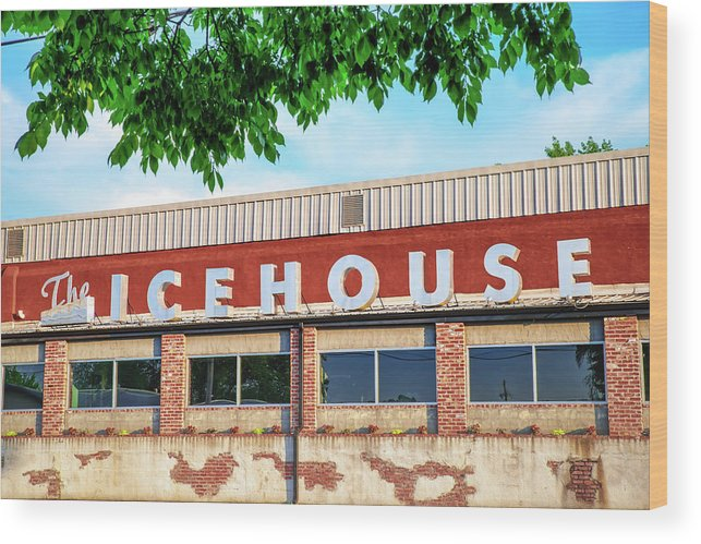 America Wood Print featuring the photograph The Icehouse - Market District - Bentonville Arkansas by Gregory Ballos