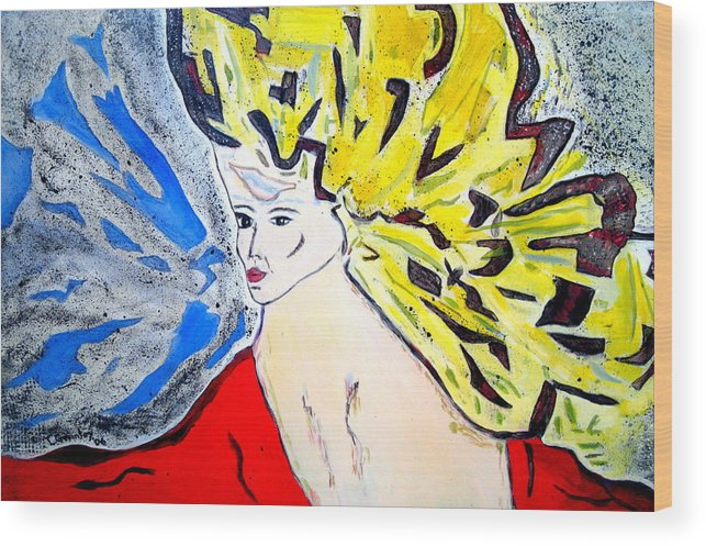 Lady Wood Print featuring the painting The Incredible Hulkstress by Lessandra Grimley