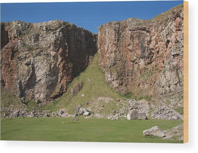 Cliffs Wood Print featuring the photograph The Little Orme by Christopher Rowlands