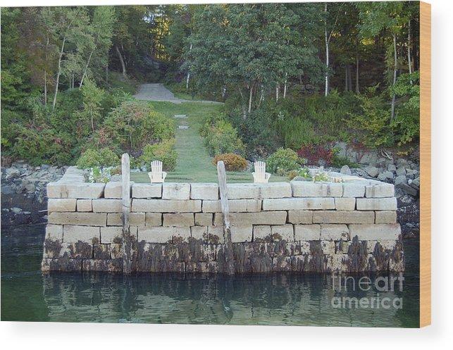 Granite Wood Print featuring the photograph The Moon Garden by Faith Harron Boudreau