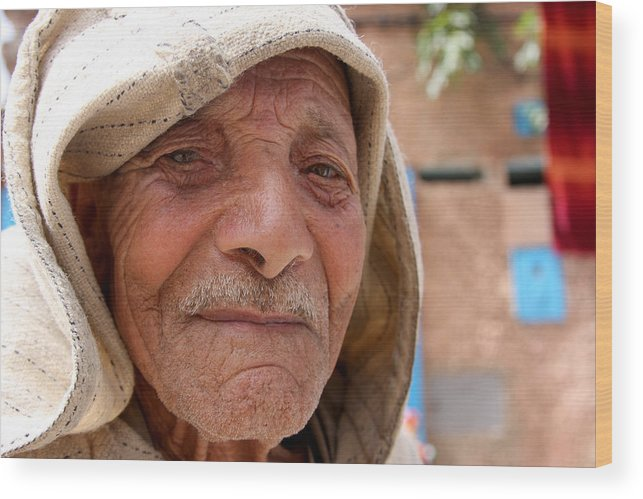 Morocco Wood Print featuring the photograph The Moroccan Man by Jason Hochman