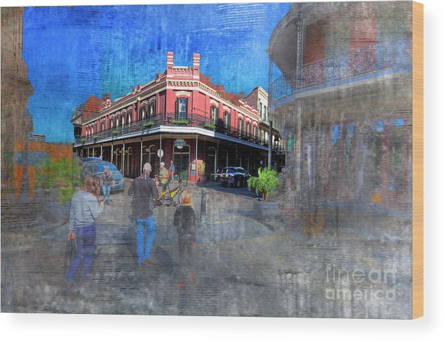 Texture Wood Print featuring the photograph The Muriel's Of Jackson Square by Larry Braun