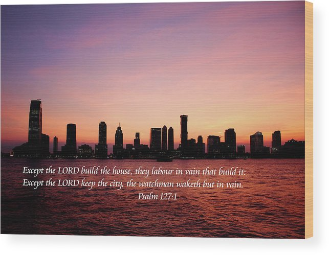 Scripture Wood Print featuring the photograph The Needed Watchman by Bryan Goebert