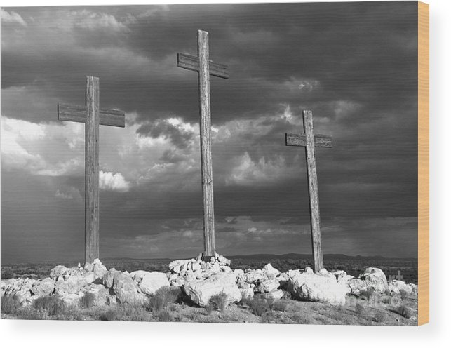 Crosses Wood Print featuring the photograph The Only Way by Kenneth Hess
