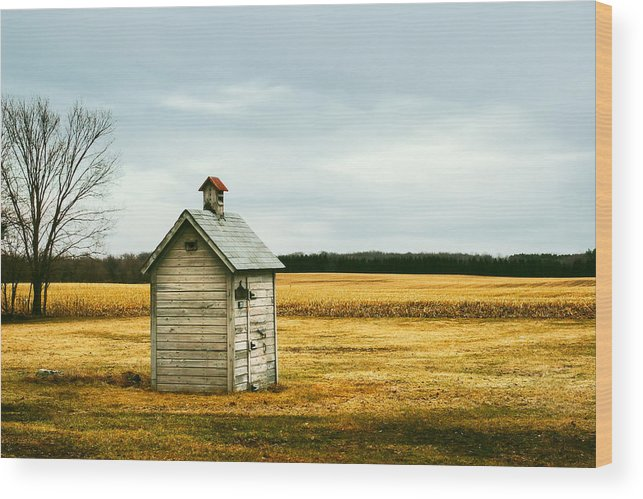 Outhouse Wood Print featuring the photograph The Outhouse by Todd Klassy