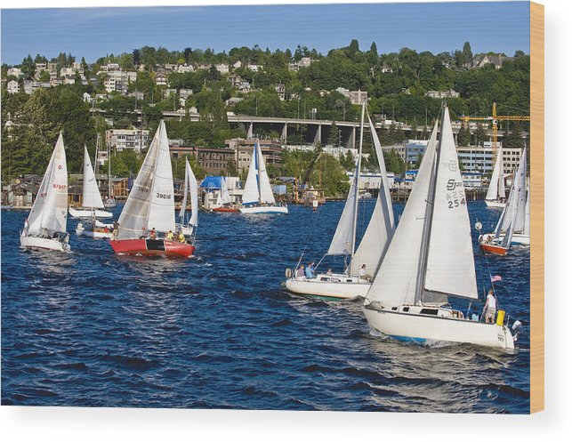 Seattle Wood Print featuring the photograph The Race Is On by Tom Dowd