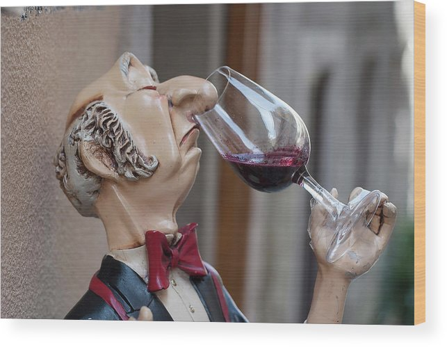 Mannequin Wood Print featuring the photograph The Snooty Wine Sniffer by Carl Purcell