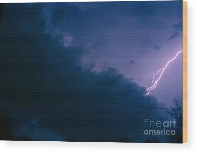 Sky Wood Print featuring the photograph The Storm 1.2 by Joseph A Langley