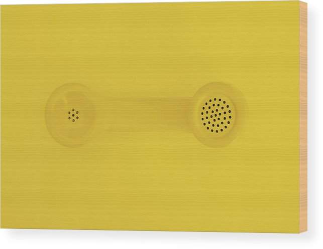 Telephone Wood Print featuring the photograph The Telephone Handset by Scott Norris