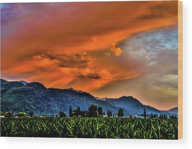 Skies Wood Print featuring the photograph Thunder Storm In The Valley by David Lee