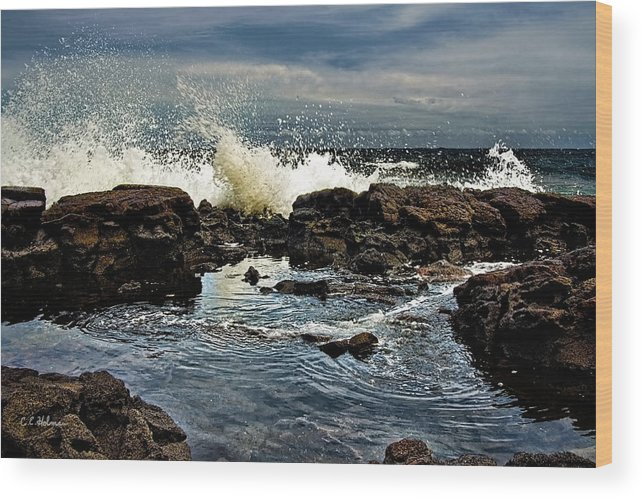 Waves Wood Print featuring the photograph Tide Coming In by Christopher Holmes