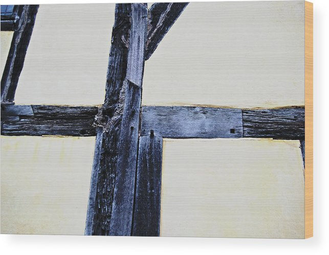 Timber Wood Print featuring the photograph Timber Framing Detail by Tinto Designs