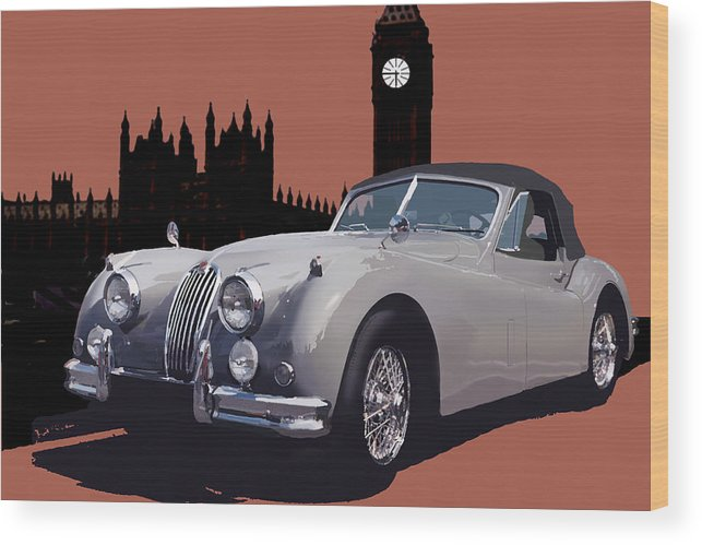 Jaguar Wood Print featuring the digital art Timeless by Richard Herron