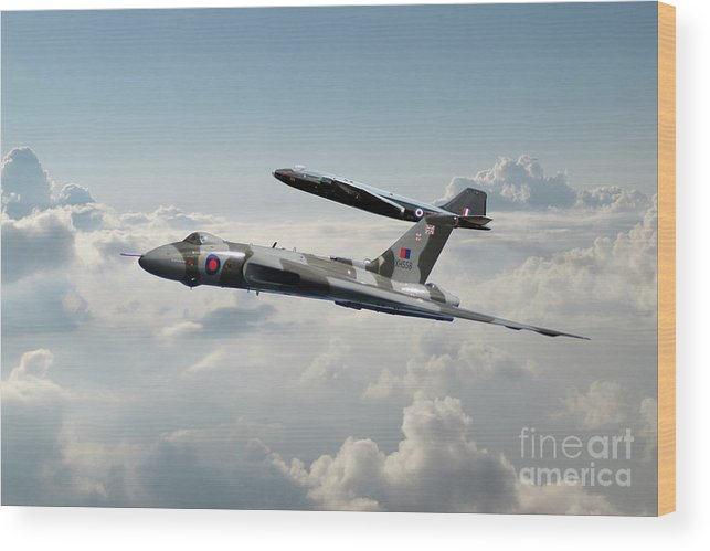 Vulcan Wood Print featuring the digital art To The Sky by J Biggadike