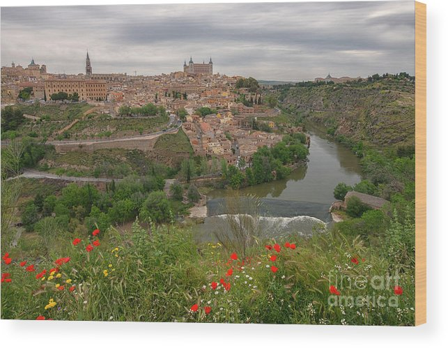 Toledo City Wood Print featuring the photograph Toledo City, Spain by Ivan Batinic