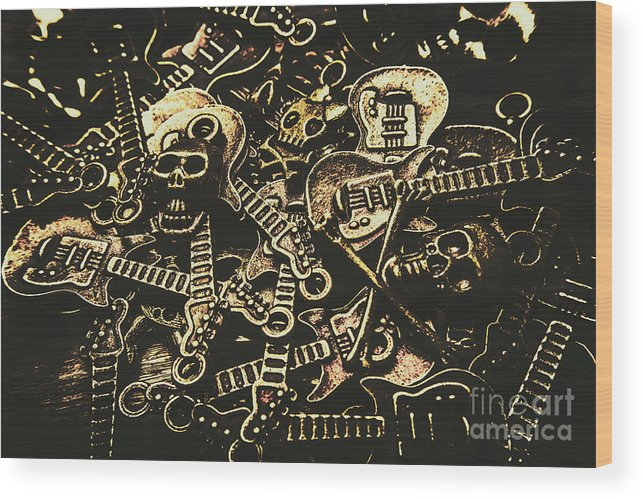 Punk Wood Print featuring the photograph Tones Of Hard Rock by Jorgo Photography - Wall Art Gallery