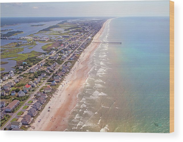 Topsail Wood Print featuring the photograph Topsail Buzz Surf City by Betsy Knapp