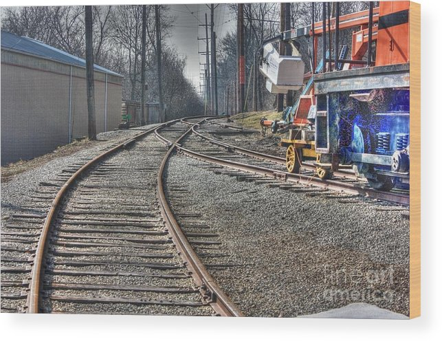 Trains Wood Print featuring the photograph Train Series 1 by David Bearden