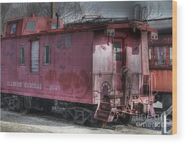 Trains Wood Print featuring the photograph Train Series 2 by David Bearden