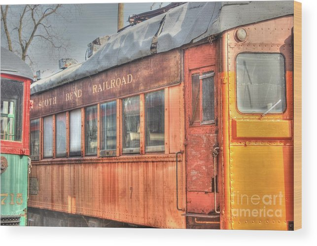 Trains Wood Print featuring the photograph Train Series 5 by David Bearden