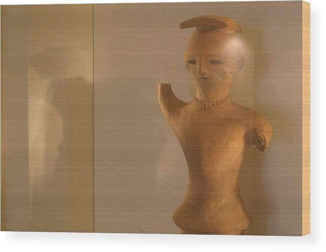 Jez C Self Wood Print featuring the photograph Trying To Wave by Jez C Self