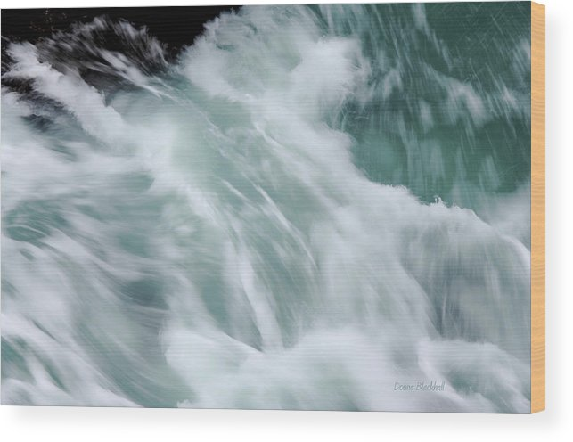 Sea Wood Print featuring the photograph Turbulent Seas by Donna Blackhall