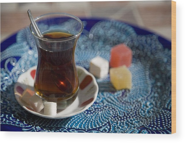 Turkey Wood Print featuring the photograph Turkish Tea by Steve Outram