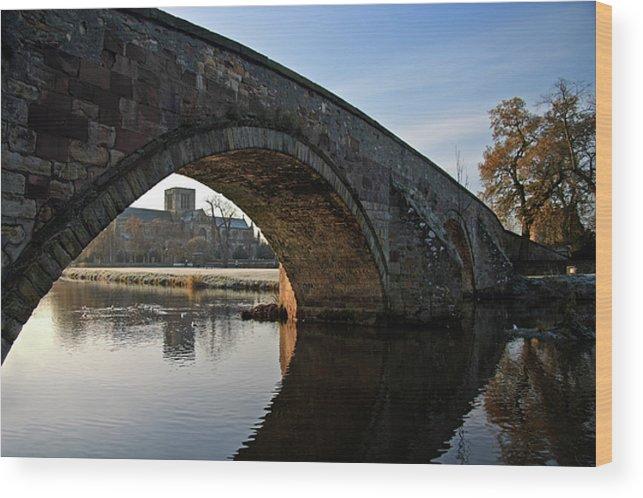 Old Bridge Wood Print featuring the photograph Under The Bridge by Carole Lloyd