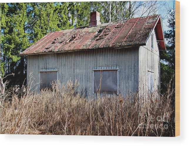 Abandoned Wood Print featuring the photograph Uninhabited House by Esko Lindell
