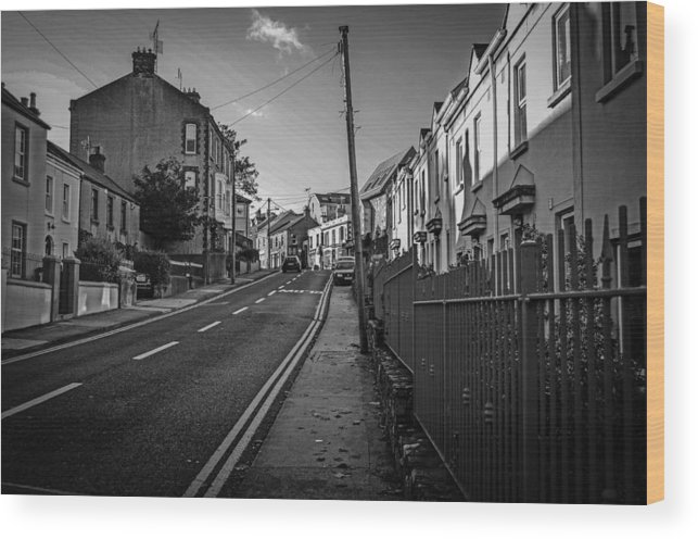 Road Wood Print featuring the photograph Up The Hill by Robert Coffey