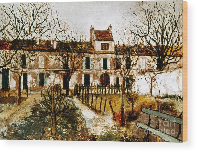 1908 Wood Print featuring the photograph Utrillo: Montmagny, 1908-9 by Granger