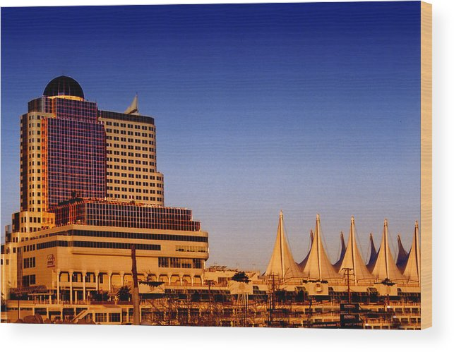 City Buildings Wood Print featuring the photograph Vancouver Skyline by Rianna Stackhouse