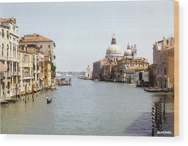 Venice Wood Print featuring the digital art Venice Grand Canal by Al Blackford
