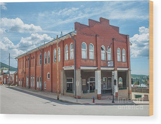Elks Wood Print featuring the photograph Victor Elks Lodge by Tony Baca