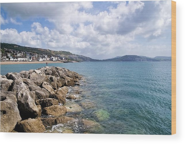 Lyme-regis Wood Print featuring the photograph View From North Wall - Lyme Regis by Susie Peek
