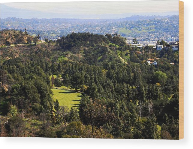 Hills Wood Print featuring the photograph View From The Griffith Observatory 0792 by Edward Ruth