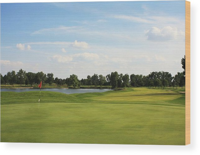 Golf Wood Print featuring the photograph Village Greens Golf Course Hole 17 by Jim Darnall