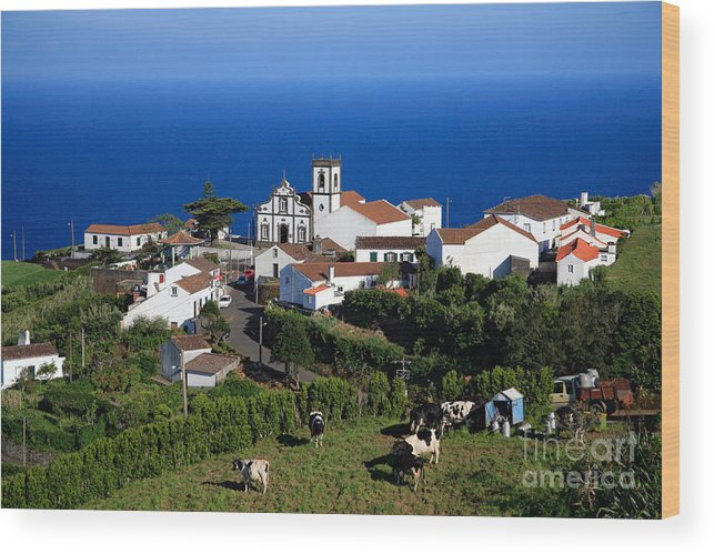 Azores Wood Print featuring the photograph Village In The Azores by Gaspar Avila