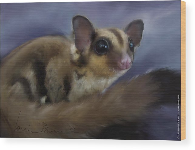 Animal Wood Print featuring the painting Vincent V. G. by Laurie Musser
