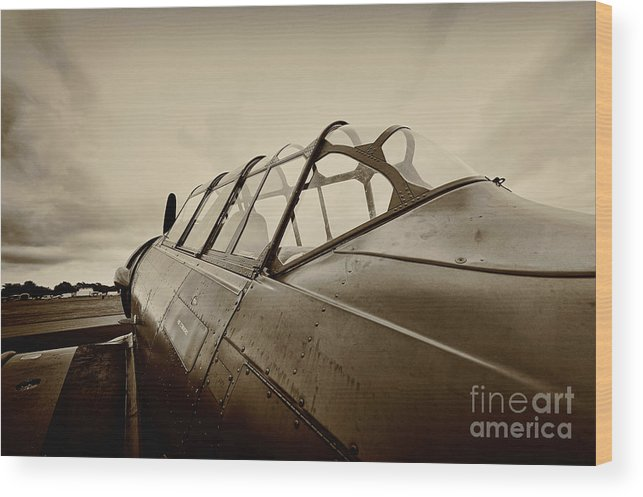 Aircraft Wood Print featuring the photograph Waiting by Richard Allen